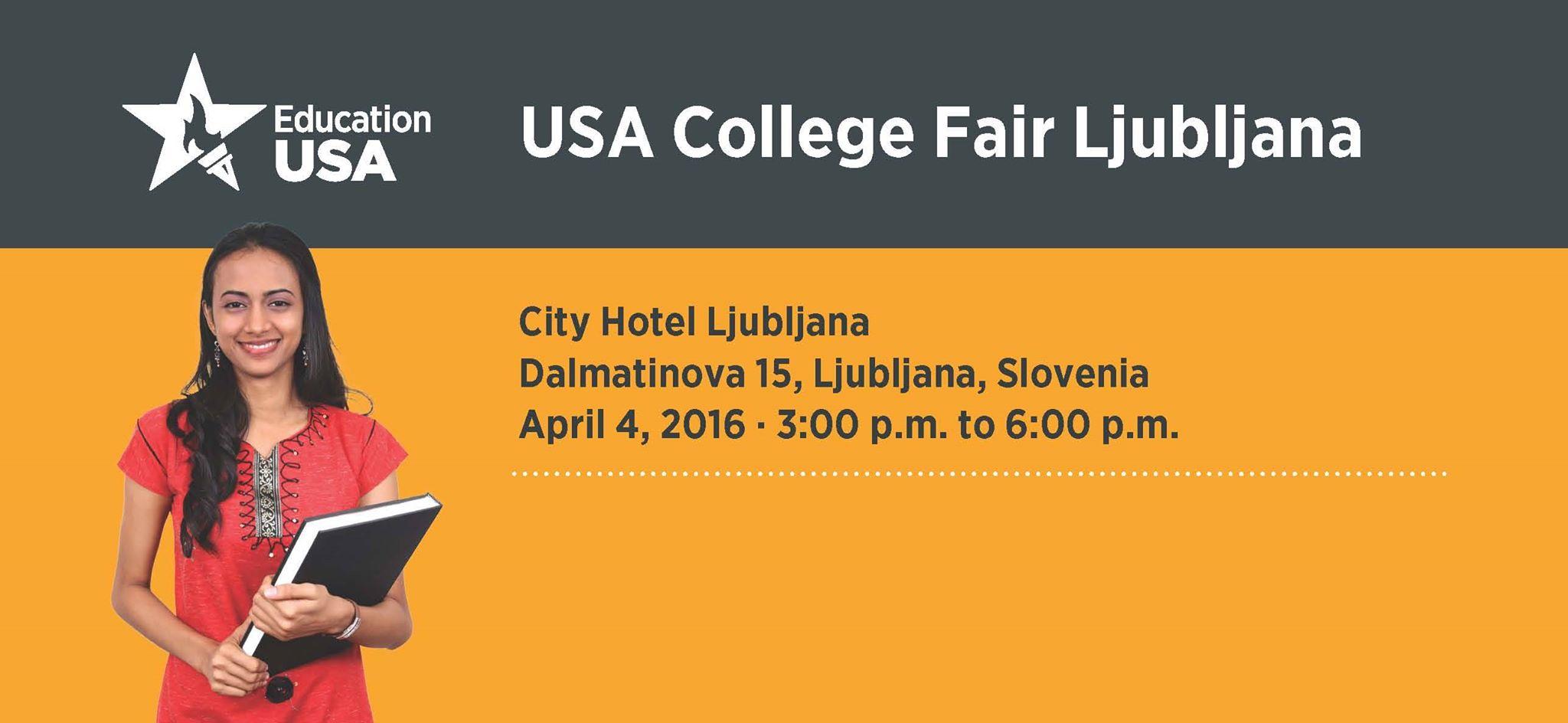 Ярмарка американского образования в Любляне. Не забудьте зарегистрироваться!